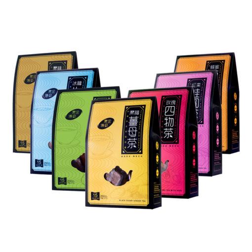 黑金傳奇黑糖系列 、黑糖薑茶、牛蒡茶、蜂蜜菊花茶、